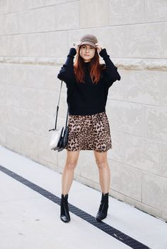 fiddler hat, batwing sweater, zara sweater, black booties, stuart weitzman, nine west bag #fallfashion #leopardprint #hats