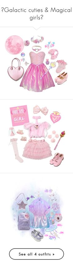 """""""☆Galactic cuties & Magical girls☆"""" by sweetpasteldream ❤ liked on Polyvore featuring ASOS, Forever 21, Bonne Bell, Judith Ripka, Wet Seal, Retrò, Chicnova Fashion, Accessorize, Sophia Webster and Made"""