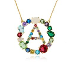 #necklaces#crystalaccessories#initialpendantnecklaces