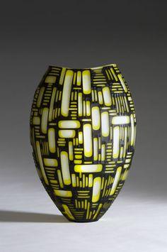 Philip Baldwin and Monica Guggisberg  Glass Vase