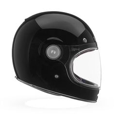 Classy. Black. Fullface.  The Bell Bullit - back in stock while supplies last (link in bio). Full Face Motorcycle Helmets, Motorcycle Types, Full Face Helmets, Cafe Racer Motorcycle, Helmet Brands, Bell Helmet, Vintage Helmet, Vintage Cafe Racer, Black Helmet