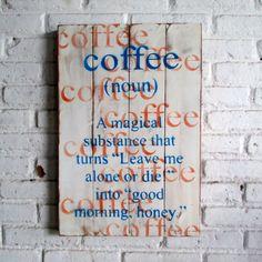 kopi.  Spray stencil on wood. 40 x 60 x 2 cm  #woodsign #homedecoration #homeandliving #vintage #alldecos #coffee