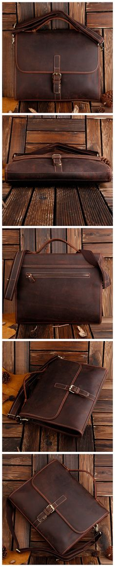 """ROCKCOW Classic Leather Messenger Satchel Laptop Leather Briefcase Bag Leather Messenger Bag 8902 Model Number: 8902 Dimensions: 15.3""""L x 1.4""""W x 10.2""""H / 39cm(L) x 5.5cm(W) x 26cm(H) Weight: 3.5lb /"""