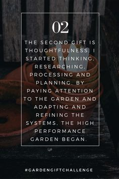 Today for the #GardenGiftChallenge the second gift my garden gave me was thoughtfulness. What are your garden gifts? Tell me in the comments below! For High Performance Gardening education watch the free garden show at - http://thelivingfarm.org/high-performance-garden-show/
