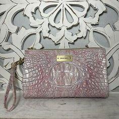 Brahmin Millie Clutch Wristlet Pink Purple Melbourne Leather | eBay Brahmin Handbags, Brahmin Bags, Pink Purple, Melbourne, Leather, Shoulder Bag, Unique, Ebay, Color