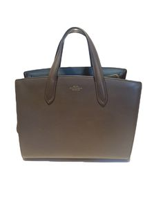 caa29842a0 Smythson Leather and Suede Tote Bag - Timpanys Dress Agency