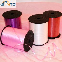 250 Yards Balloon Cable Ties Plastic Ribbon Wedding Decoration Gift Wrapping Christmas Colored Party Decorations