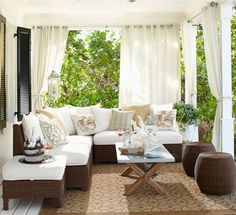 Sheer outdoor curtains make the perfect final element in this patio.
