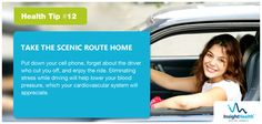 #HealthTip - 12: Take scenic route home!