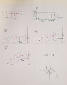 Y-칼라 제도법 : 네이버 블로그 Clothing Patterns, Sewing Patterns, Collar Pattern, Pattern Drafting, Pattern Making, Planer, Charts, Blog, How To Make