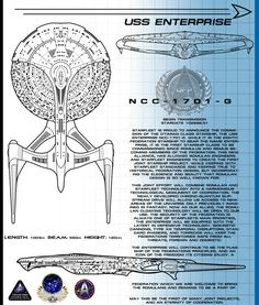 Well, here is the last one in my series of post Enterprise E canon starships with the name Enterprise. This one is the Enterprise H, the Eigth starship to bear the name... Now some of you may be th...