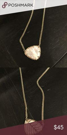 Kendra Scott 2 sided necklace White / Pearl with gold Kendra Scott Jewelry Necklaces