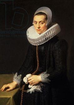 Nicolaes Eliasz. Pickenoy, Portrait of a Lady in black, Johnny van Haeften Gallery, London