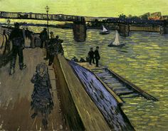 """Vincent van Gogh """"The Bridge at Trinquetaille"""" / June 1888, Arles / Oil on canvas, 65 x 81 cm/ Private collection"""