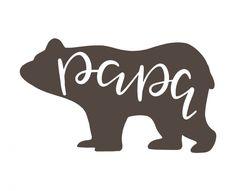 Free SVG cut file - Papa Bear