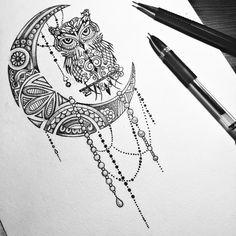 Image about girl in I breathe Art by Doriana on We Heart It Mandala Tattoo – Fashion Tattoos Dream Catcher Drawing, Dream Catcher Tattoo, Mini Tattoos, Body Art Tattoos, New Tattoos, Owl Tattoo Design, Tattoo Designs, Tatouage Main Hamsa, Owl Tattoo Drawings