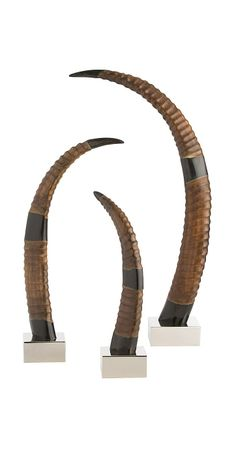 Arteriors Home - Igor Horns (Set of - 4300 Luxury Wedding Gifts, Contemporary Decorative Objects, Luxury Gifts For Women, Expensive Gifts, New Home Gifts, Inspirational Gifts, Bride Gifts, Interior Accessories, Horns