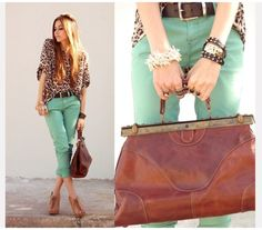 Teal and leopard!