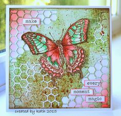 Kathy Stewart: Kath's Blog - Putting Things in Perspective... - 2/16/15. (Tim Holtz Mixed Media Dies - background). (Pin#1: Background: Dies. Pin+: Butterflies...SU ok).