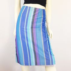 Size 8 French connection pencil skirt Size 8 French connection pencil skirt  lined, 52% acetate, 48% polyester, made in USA, excellent used condition, waist 30, hips 41, length 25, fits more like a 6.   Price firm. No trades. Dry clean and ship same day.   #sexypencilskirt #frenchconnection #stripedpencilskirt French Connection Skirts Pencil