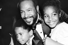 Marvin Gaye and his babies.