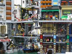 Here's a Crowded Urban Dystopia Built Entirely Out of Legos - Curbed National