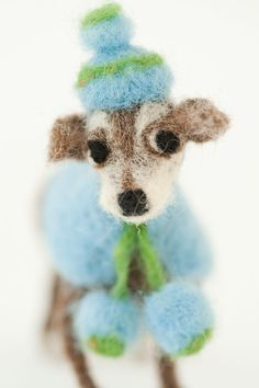 Domenica More Gordon's wonderful doggie adventures- this felt wool animal made me smile