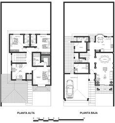Vivienda de dos Plantas con Fachada Estilo Colonial.    DESARROLLO DE PLANTA BAJA-1er. Nivel.  Este Proyecto Arquitectonico  esta bien ...