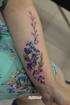 Tattoo цветы на предплечье - tattoo's photo In the style Art, Female, Flowe Wrist Tattoos, Body Art Tattoos, Small Tattoos, Tatoos, Side Thigh Tattoos, Nature Tattoos, Foot Tattoos, Pretty Tattoos, Beautiful Tattoos