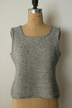 Simple and classic, free pattern: Pebble Tank - the purl bee