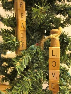 Scrabble Clothespin Ornaments are absolutely wonderful ornament crafts, especially if you have a Scrabble lover in your family! Scrabble Ornaments, Scrabble Tile Crafts, Scrabble Art, All Things Christmas, Holiday Fun, Christmas Holidays, Christmas Ideas, Christmas 2017, Rustic Christmas
