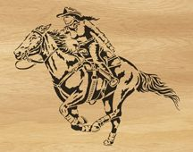Scroll saw pattern 047-cowgirl