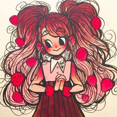 Love the ombre hair Amazing Drawings, Cute Drawings, Amazing Art, Cartoon Art Styles, Cute Art Styles, Cartoon Girl Drawing, Cartoon Drawings, Wow Art, Character Drawing