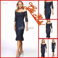 Wholesale 2012 Elegant Off the shoulder short sleeve knee length Mother of the Bride/Groom Dresses(Gillis2133), Free shipping, $89.6-112.0/Piece | DHgate