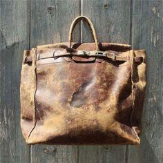 Vintage leather Big Bag <3
