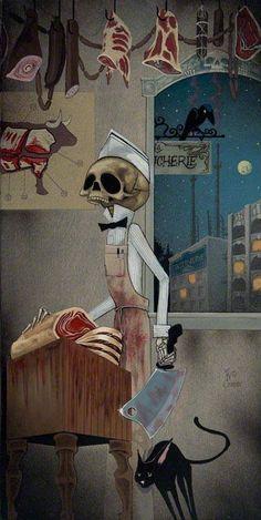 I'll CUT ju!!                                   Skull by Joe Vollan