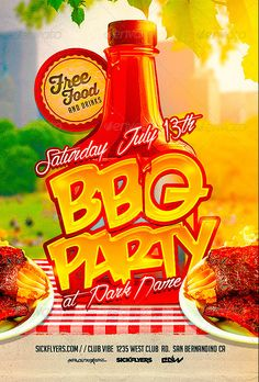 Free Flyer Templates, Event Flyer Templates, How To Clean Bbq, Bbq Menu, Bbq Party, Summer Bbq, Party Flyer, Free Food, Business Professional