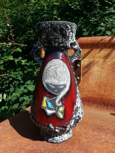 Vintage 1960s ceramic vase from art pottery by fcollectables, €65.00