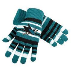San Jose Sharks NHL Hockey Team Logo Stretch Gloves