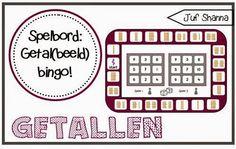 Juf Shanna: Bingo spelbord voor kleuters: getallen en getalbeeld! Teaching Numbers, Bingo, Mathematics, Coding, Education, Math, Onderwijs, Learning, Programming