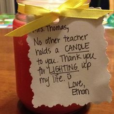 Teacher Gift - Thank you for Lighting up my life!