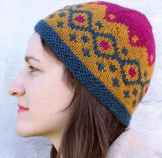 Free Knitting Pattern and Class for Fair Isle Hat with Free Trial - Kristin Nicholas provides step by step video instructions and pattern to make this colorful hat in Fair Isle, a traditional color work technique where two colors are knit in one row to create a geometric pattern. Pattern and instructional video class available for free with a free trial at Creativebug .