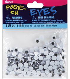 Darice 7mm Paste On Wiggle Eyes - 286PK/Black: wiggle eyes: basic craft supplies: crafts: Shop | Joann.com