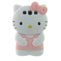 Amazon.com: Cute 3d Hello Kitty Light Pink Soft Silicone Case for Samsung I9300 Galaxy S3: Cell Phones & Accessories