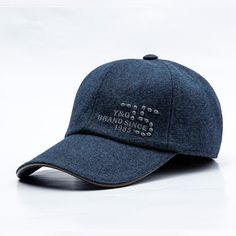 0c914a9cbae Mens Middle-aged Cotton Earmuffs Letter Embroidered Baseball Cap Adjustable  Dad Peaked Hat