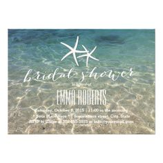Summer Beach Starfish Bridal Shower Card