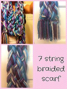 7 string braided scarf!!