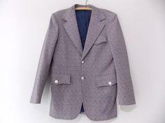 Ending Today!! Plaid Blazer Size 36 Polyester Disco Suit Jacket Vintage 70s Costume Coat #Lucasini #TwoButton