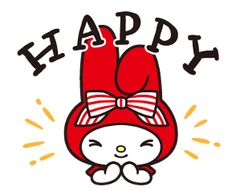 Melody Hello Kitty, Sanrio Hello Kitty, My Melody Wallpaper, Rabbit Art, Japanese Cartoon, Sanrio Characters, Little Twin Stars, Line Sticker, Kawaii Cute