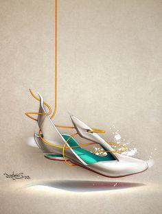 Shoe studies by Doeke de Walle, via Behance